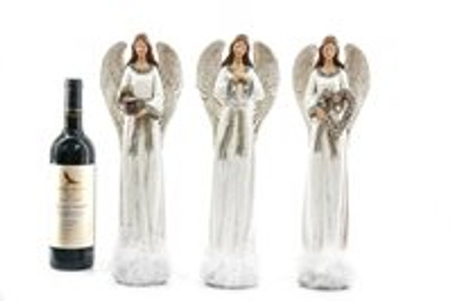 Standing White Angels