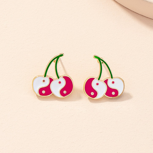 Yin and Yang Cherry earrings