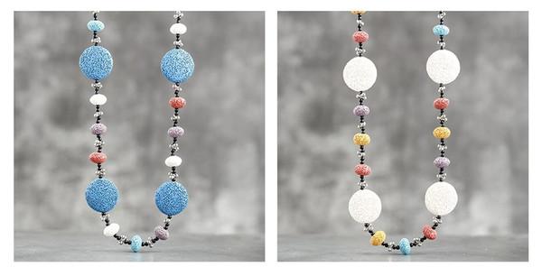 lava stone bead necklaces - two colour options