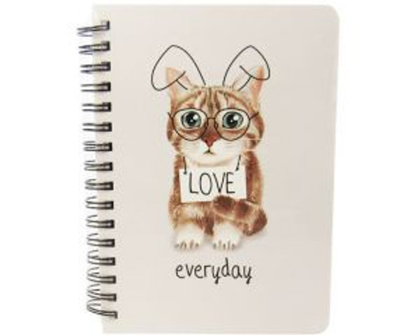 Cat theme spiral bound notebook - 4 designs