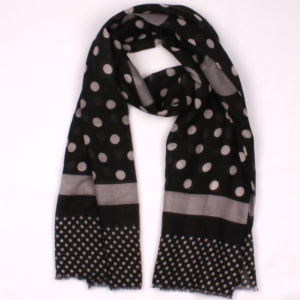 Black scarf with grey spots