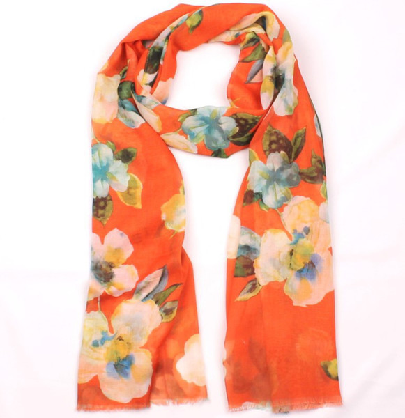 big flower, floral print scarf - comes in 3 colours