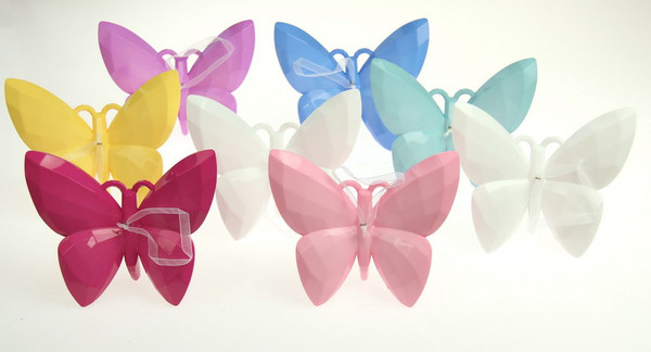 solid colour acrylic butterfly