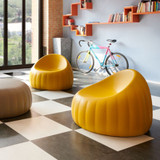 Candy Lounge Armchair - Soft yellow