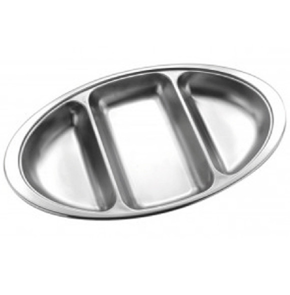 Vegetable Dish Oval 14in 3 Section