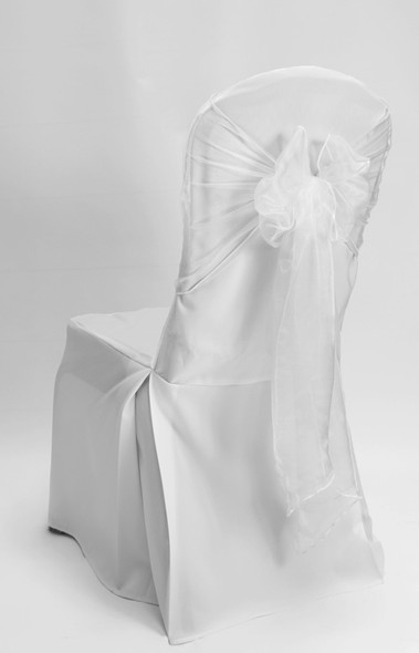 Organza Chair Tie / Table Runner White