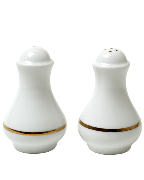 Gold Rim Salt & Pepper Set