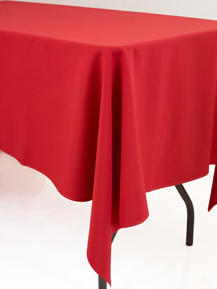 Linen Tablecloth Red 72in x 144in