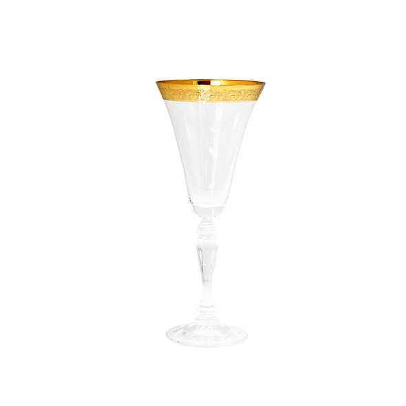 Victoria Gold Rim White Wine Glass 7oz (16 pack)