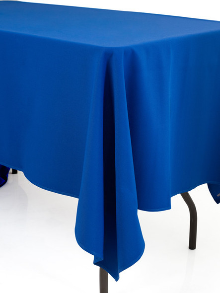 Linen Tablecloth Blue 54in x 120in