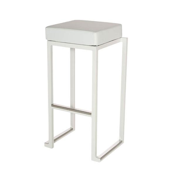 Cube White Bar Stool