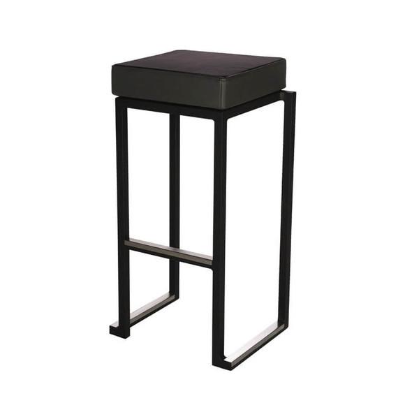 Cube Black Bar Stool