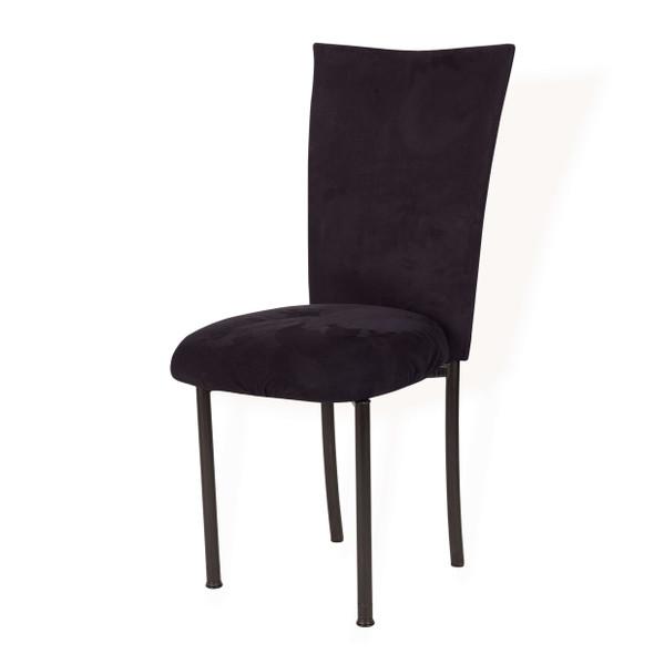 Chameleon Black Suede Chair