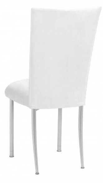 Chameleon White Suede Chair