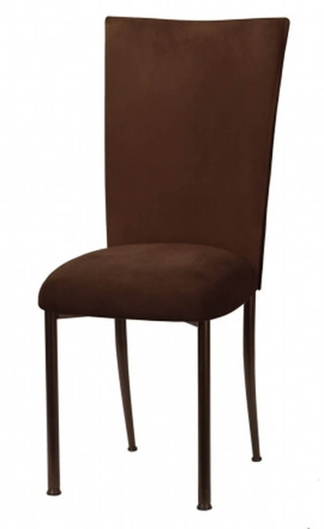 Chameleon Cocoa Brown Suede Chair