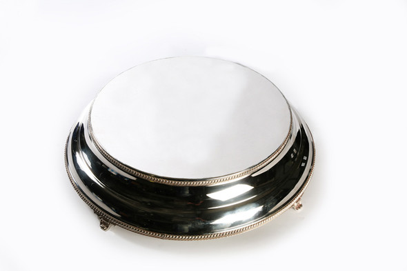 Silver Round Cake Stand 16""
