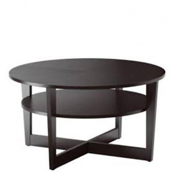 Low Disc Coffee Table - Dark Brown