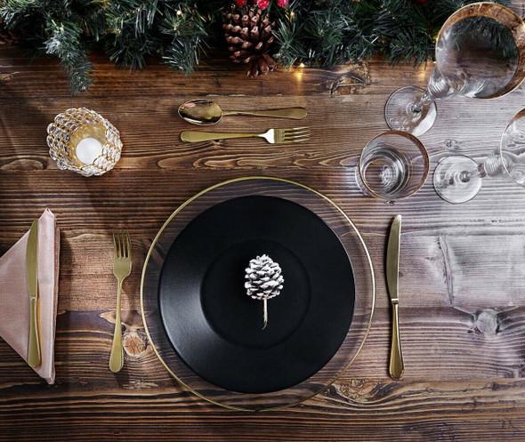 "Black Soup Plate 9"""