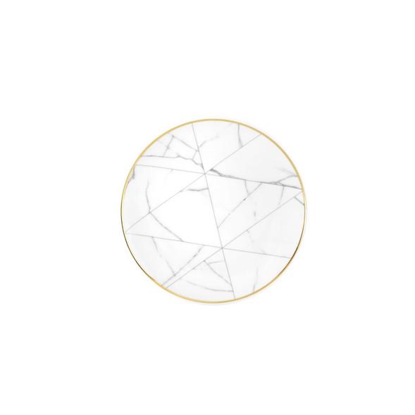 "Carrara Marble Side Plate 6"""