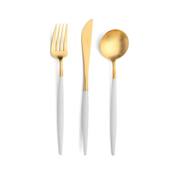 Goa White & Gold Dinner Fork