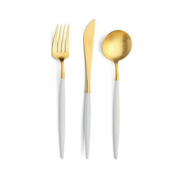 Goa White & Gold Starter/Dessert Fork