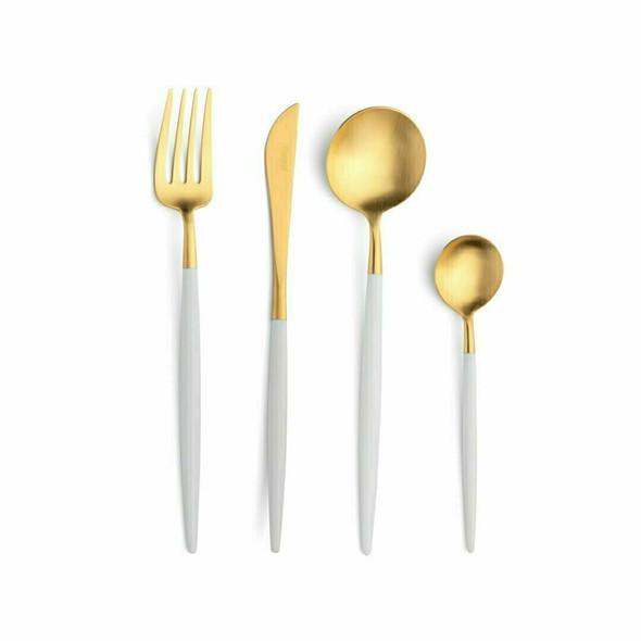Goa White & Gold Starter/Dessert Knife