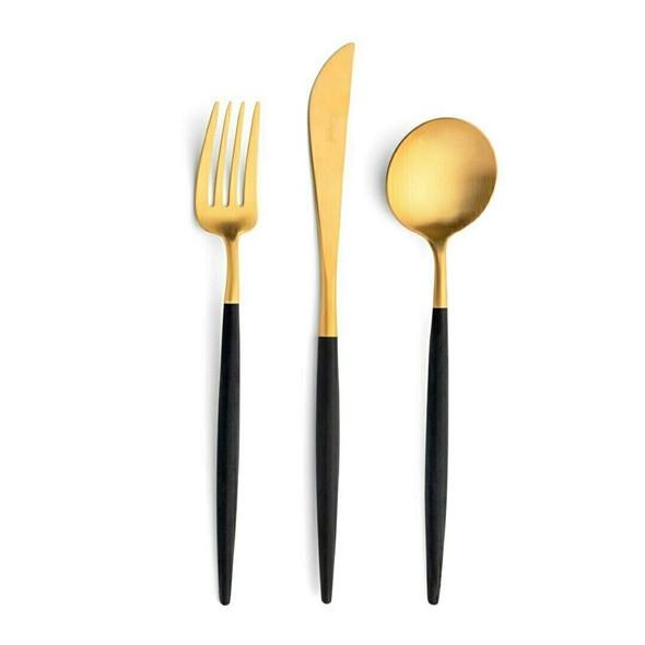 Goa Black & Gold Starter/Dessert Knife