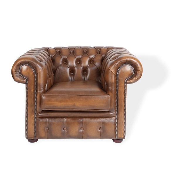 Chesterfield Armchair - Antique Brown