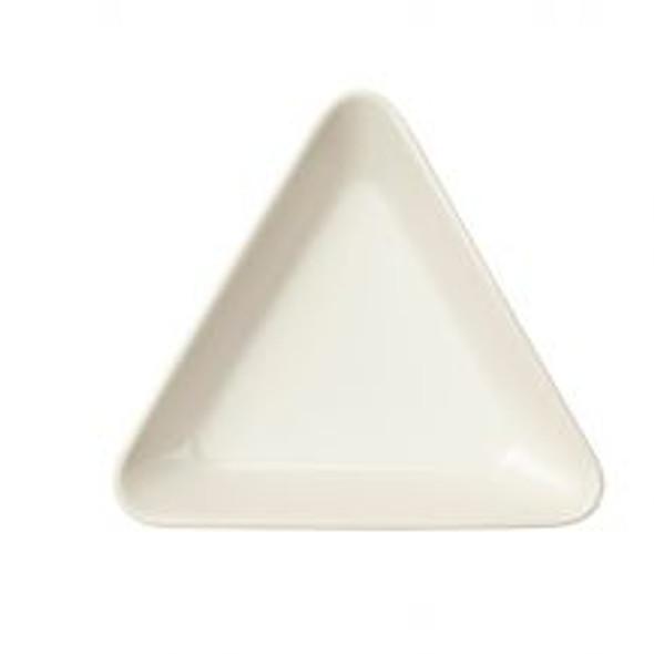 "Triangular Mini Dish White 3"""