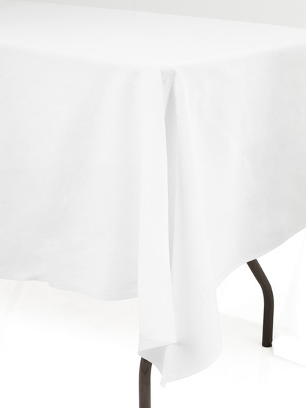 Linen Tablecloth White Ivy Leaf 72in x 144in