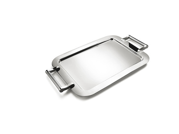 Silver Rectangular Tray with Handles