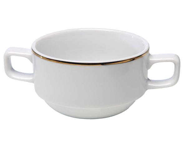 Gold Rim Soup Bowl 7oz