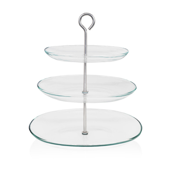 Afternoon Tea Stand Glass 2 Tier