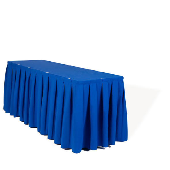 Linen Table Skirting Blue 21ft