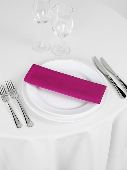 Silk Taffeta Napkin Hot Pink 20in x 20in