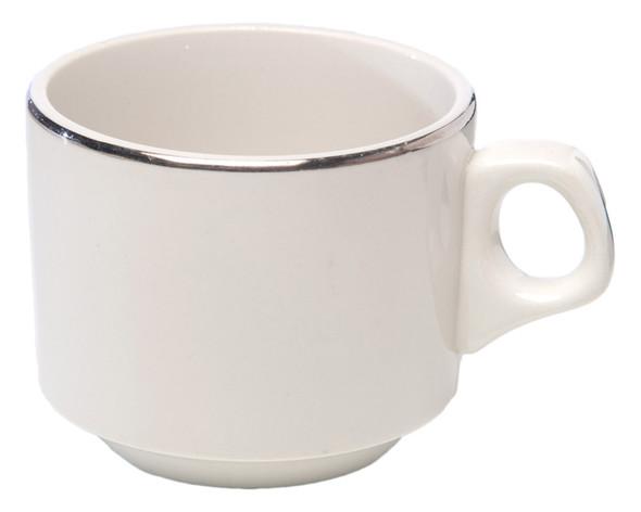 Silver Rim Tea Cup 6oz
