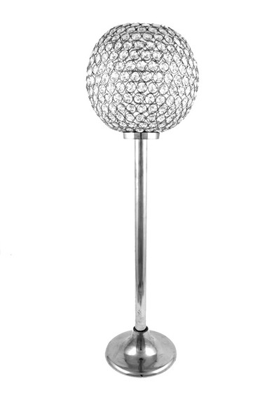 Crystal Globe Candelabra 23.5in