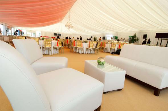 Club 3 Seater Sofa White