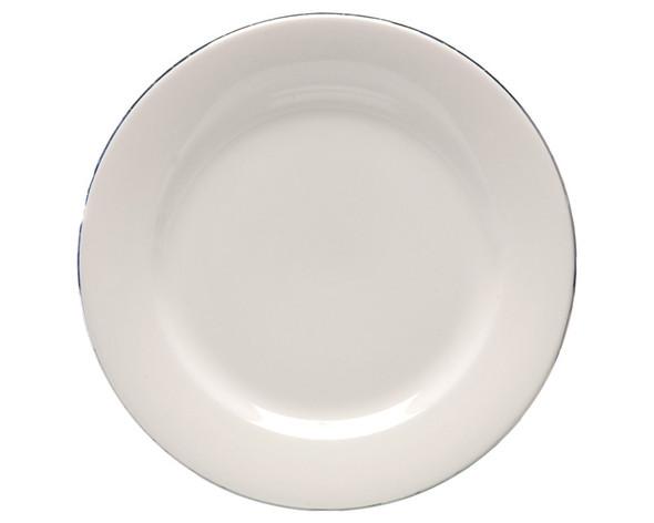 Silver Rim Dinner Plate 10in