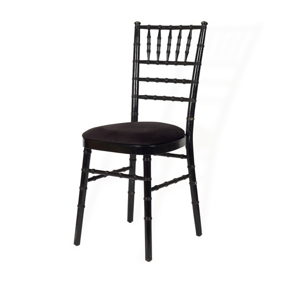 Chiavari Chair Black with Black Pad