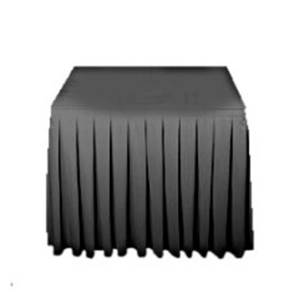 Linen Stage Skirting Black 19.6ft