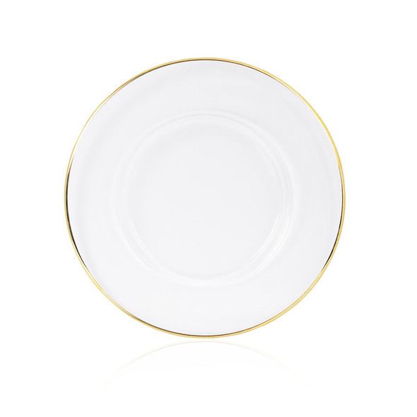 Gold Rim Charger Plate 12in