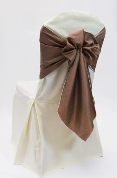 Silk Taffeta Chair Tie / Table Runner Cappuccino