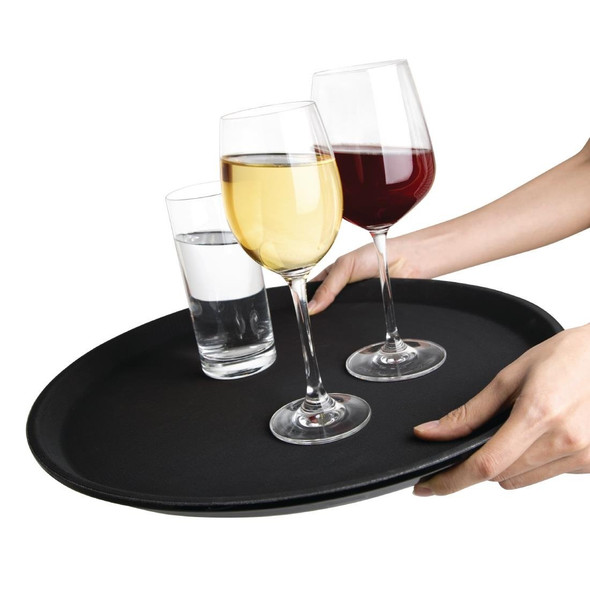 Bar Tray Non Slip Black 16in