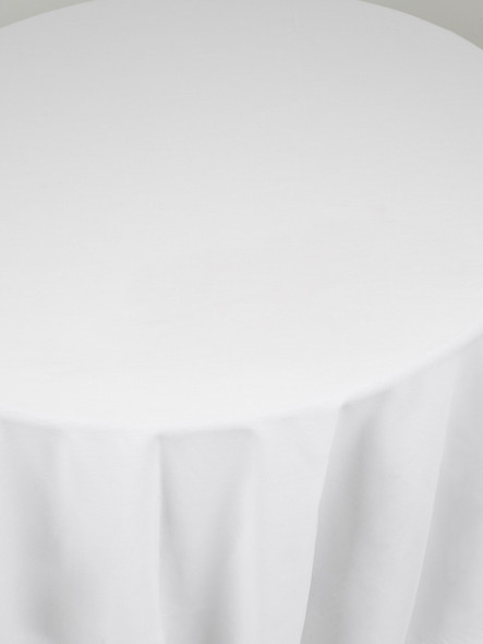 Linen Tablecloth White Round 120in
