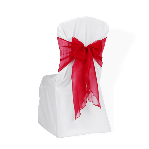 Organza Chair Tie / Table Runner Red