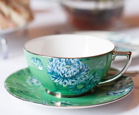 Wedgwood Jasper Conran Peacock Tea Cup Saucer