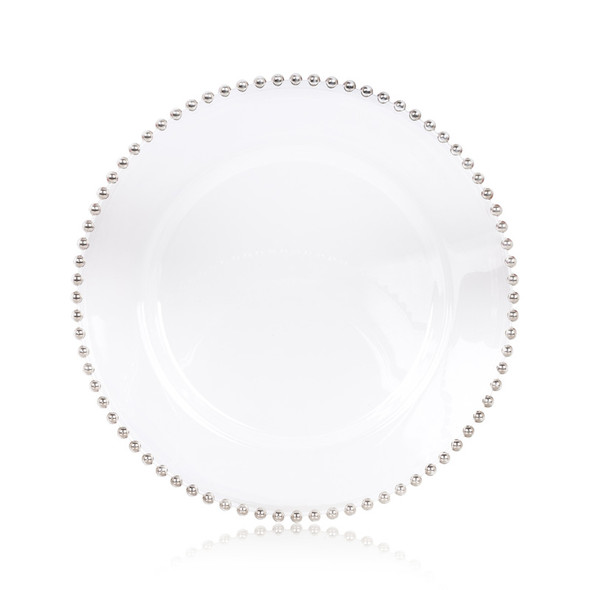 Glass Beaded Charger Plate 13in