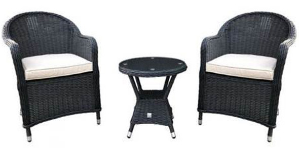 Milan Rattan Bistro Chairs Set & Table