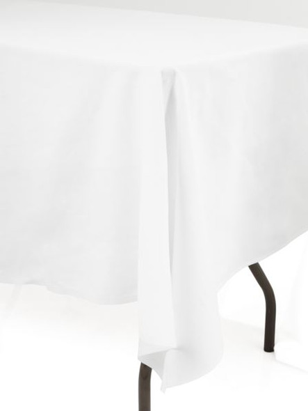 Linen Tablecloth White Ivy Leaf 70in x 108in